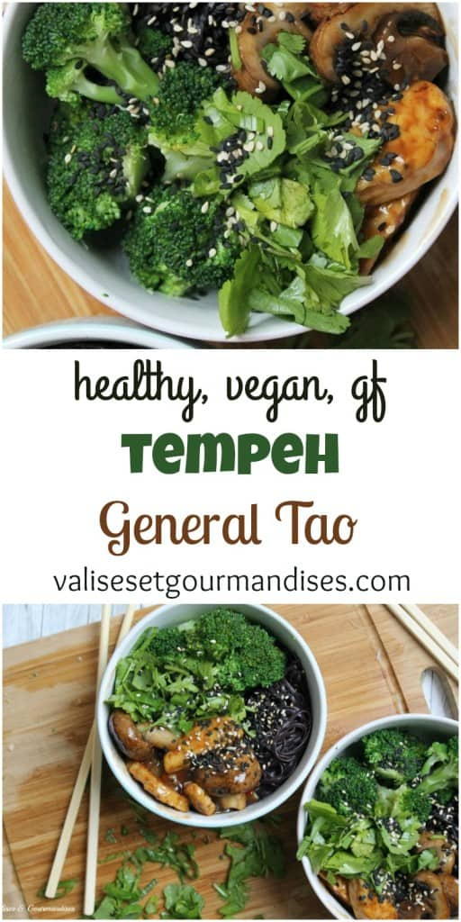 Healthy tempeh general tao, a great way to introduce tempeh