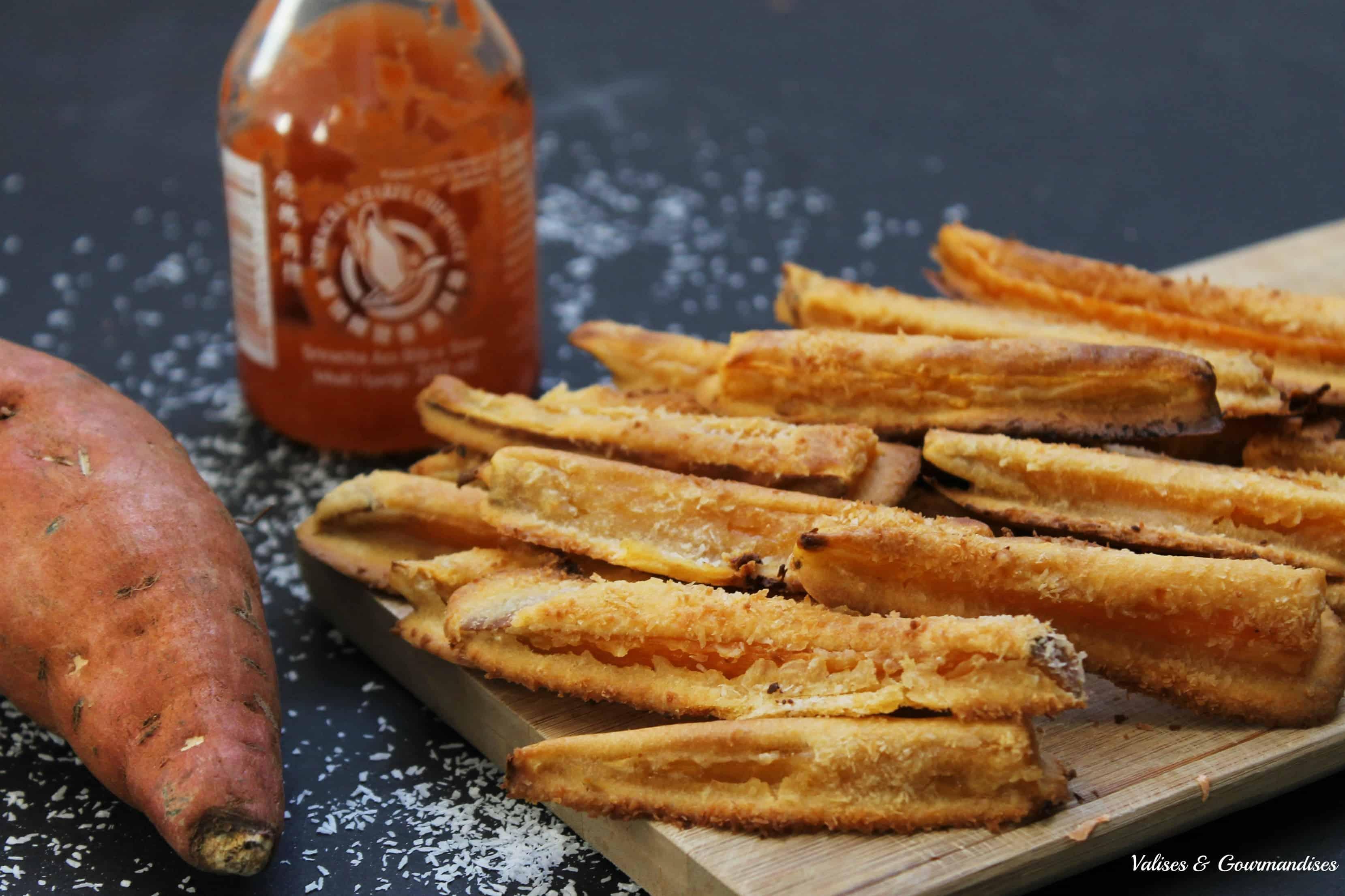 Spicy Oven Baked Coconut Tempura Sweet Potato Fries Valises Gourmandises