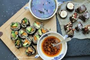 Vegan sushi feast