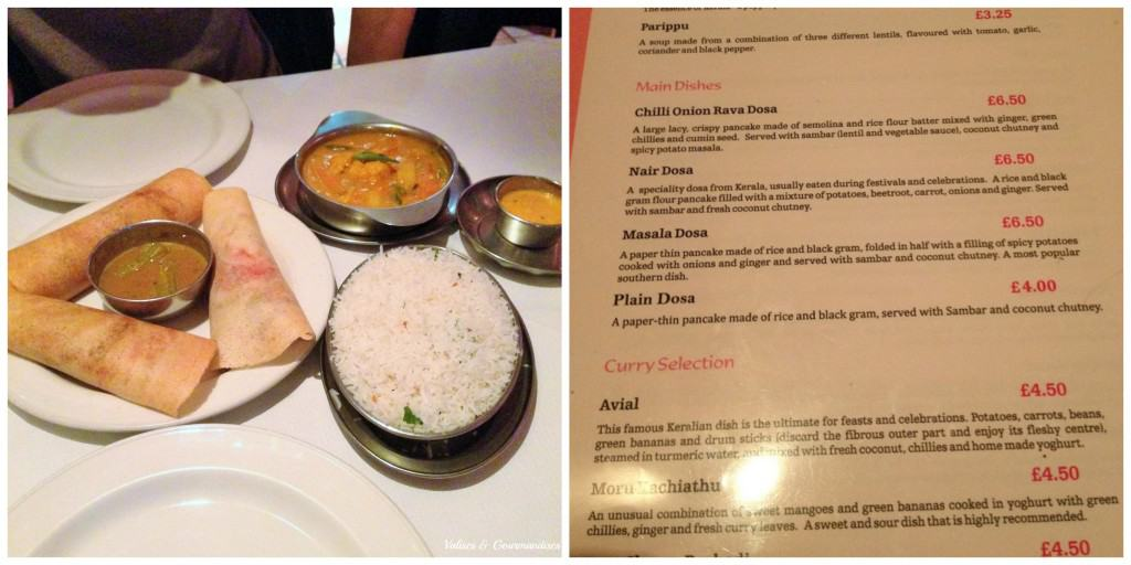 South Indian food in London