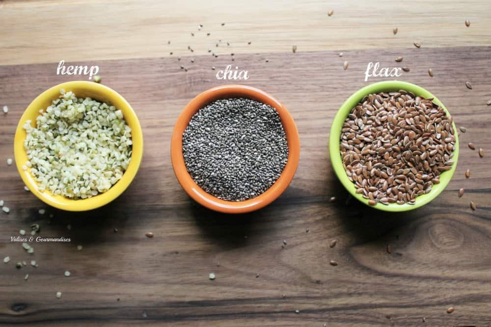 how to use hemp, chia and flax seeds