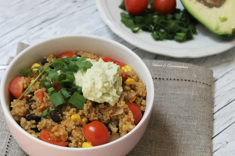 casserole végane de quinoa tex-mex