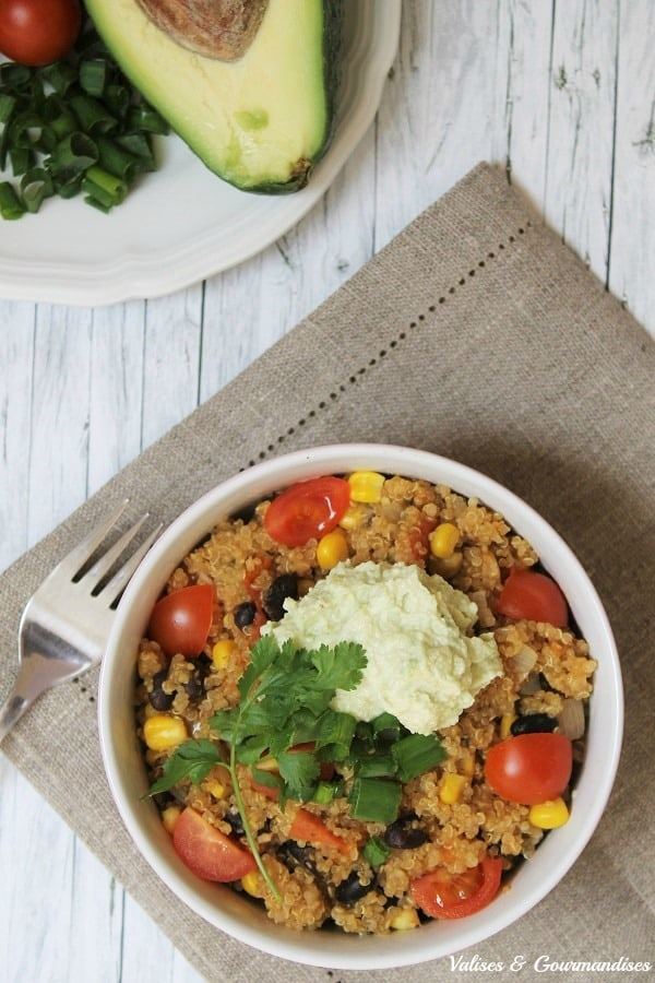 Casserole de quinoa tex-mex