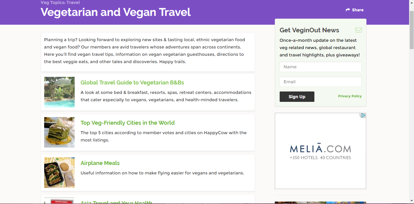 Happy Cow - How to find vegan restaurants while travelling