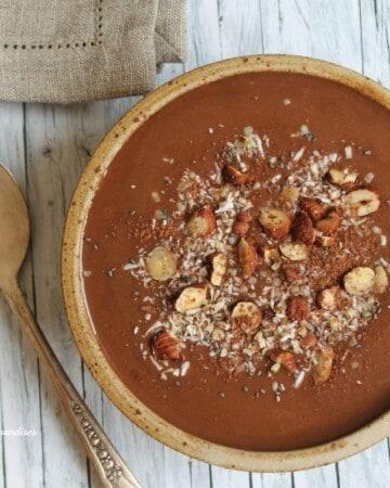 Smoothie déjeuner mocha, végétalien - Valises & Gourmandises