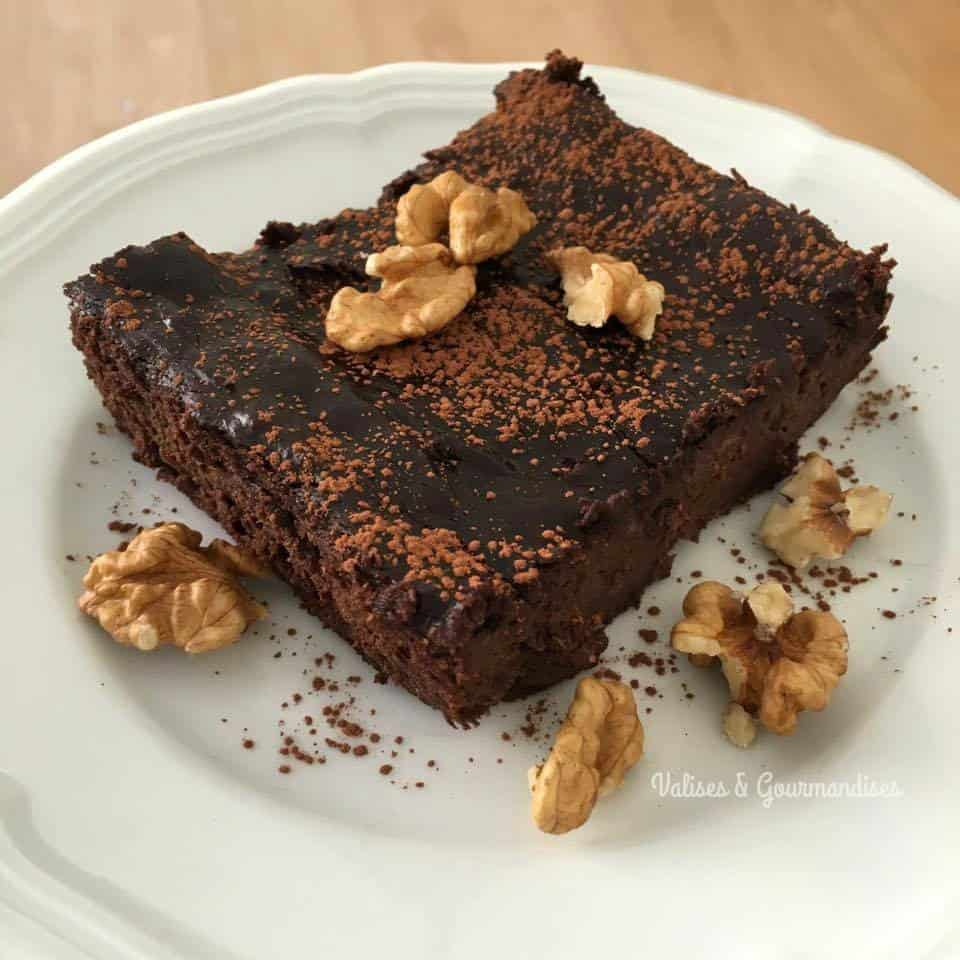 vegan grain-free brownies - 3 ingredients, gluten & nut-free!