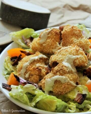 Vegan Caesar salad