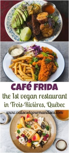Located midway between Montréal and Québec, don't miss out on Café Frida, the first vegan café in Trois-Rivières, a pretty city on the water.