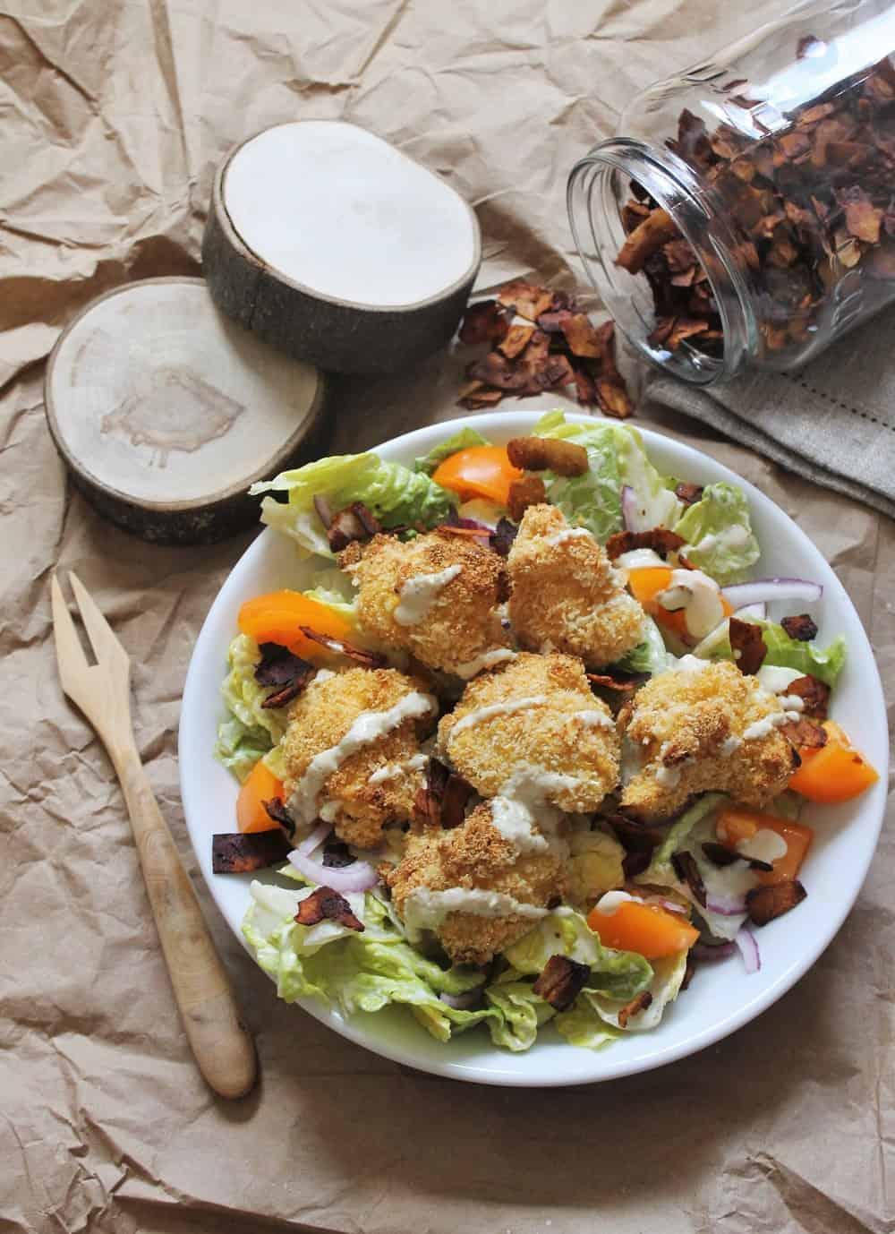 Vegan coconut bacon - Valises & Gourmandises