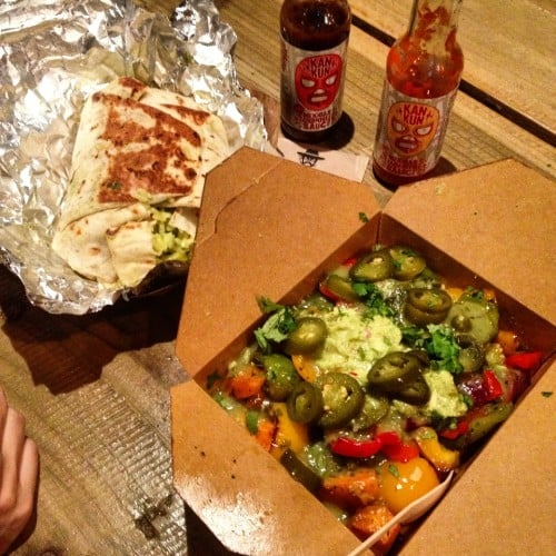 Burritos véganes à Galway Irlande