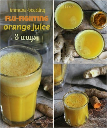 Prevent and fight-off the cold and the flu naturally with these three immune-boosting orange juices!
