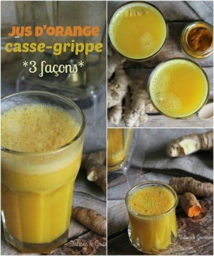 Découvrez un remède naturel avec ces 3 jus d'orange casse-grippe.