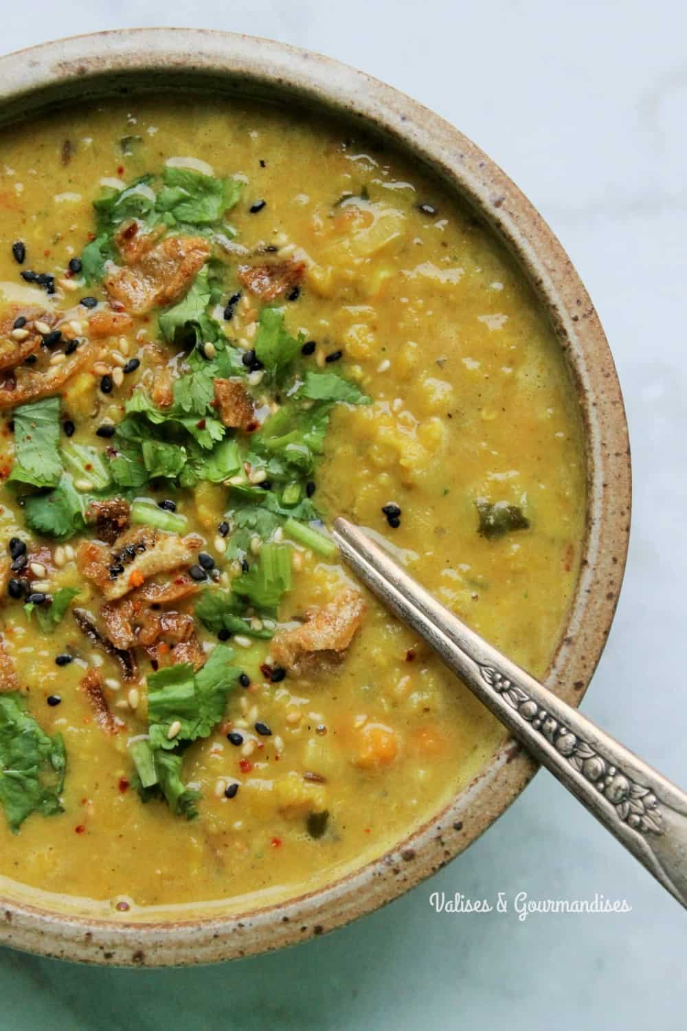 Turn your leftover red lentil dal in a heartwarming soup!