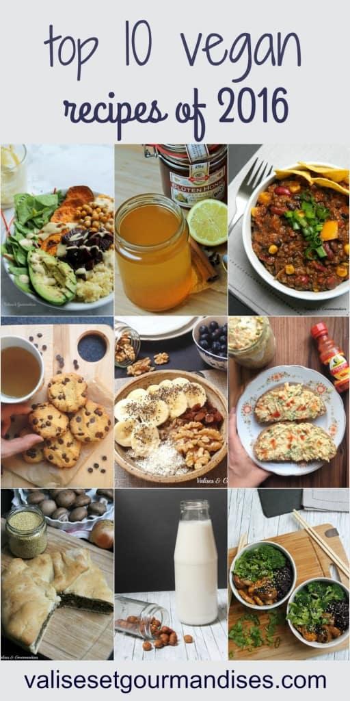 Top 10 recipes of 2016 - vegan & healthy