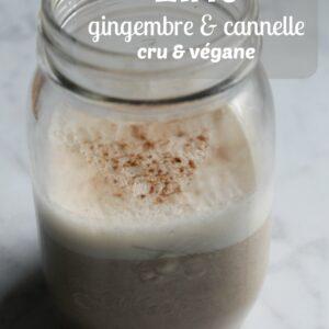 Ce latte se prépare sans lait et aide à combattre les migraines grâce au gingembre qu'il contient.