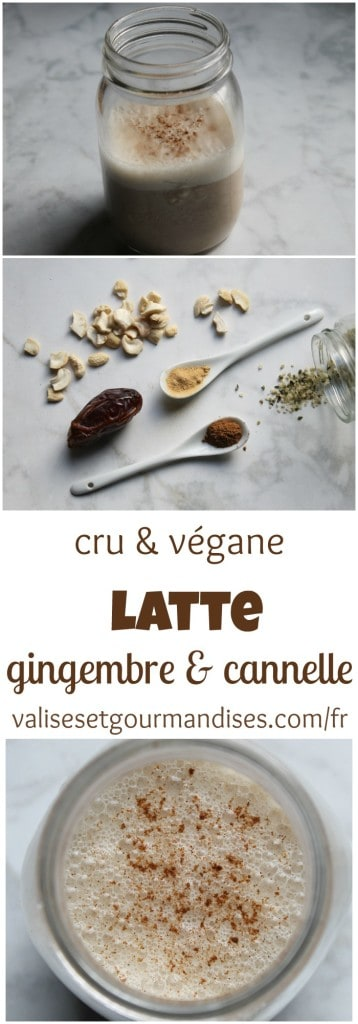 Ce latte cru au gingembre est une succulente option pour remplacer votre café matinal. Il se prépare en seulement quelques minutes et est crémeux à souhait.