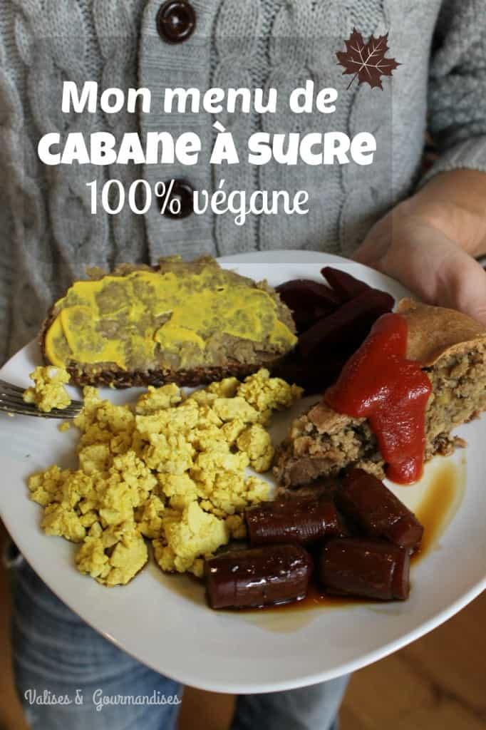 Repas de cabane à sucre dans une assiette