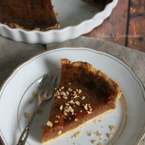 Cette tarte au sucre végétalienne est super simple à réaliser et aussi bonne que l'originale! Valises & Gourmandises