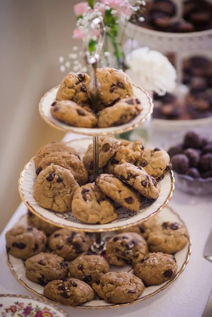 Biscuits brisures de chocolat, mariage végane