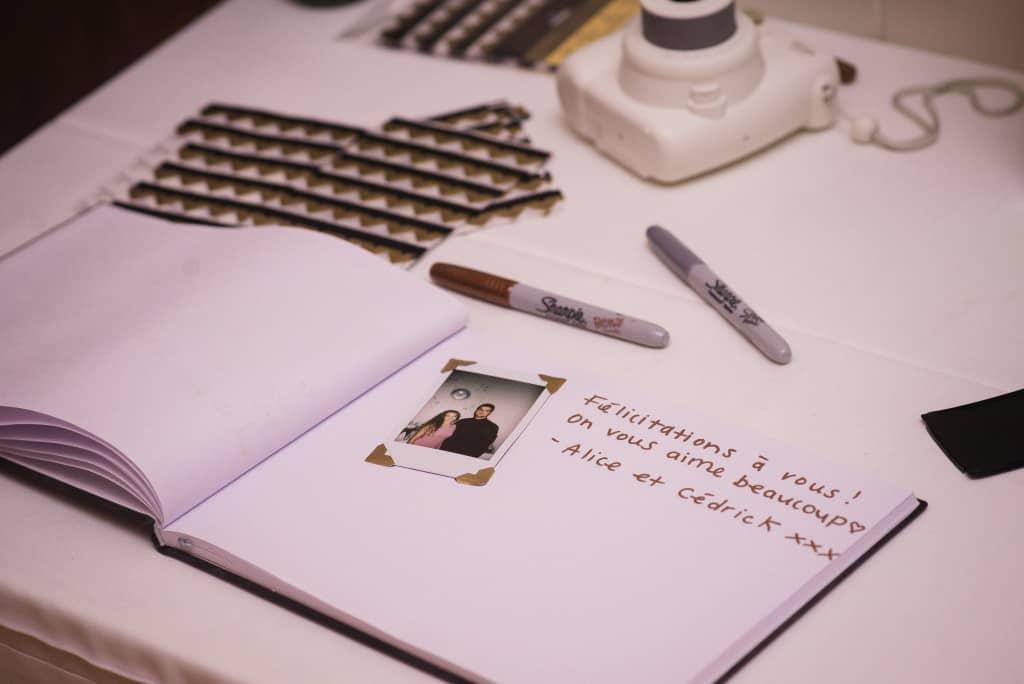Un livre de signature personnalisé - Mon mariage végane