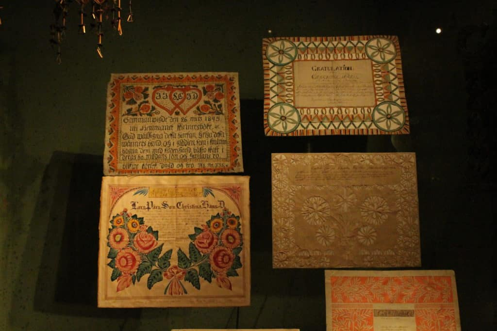 Traditional Wedding Certificates, Nordiska Museum, Stockholm