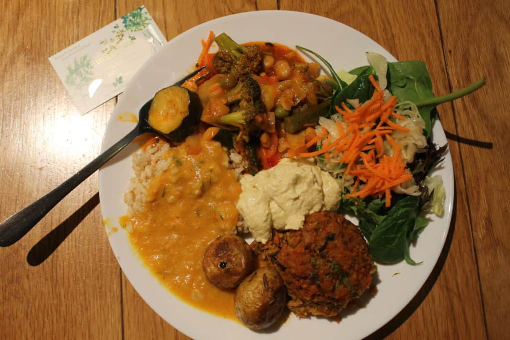 Lunch buffet at Hermitage vegetarian restautant, Stockholm