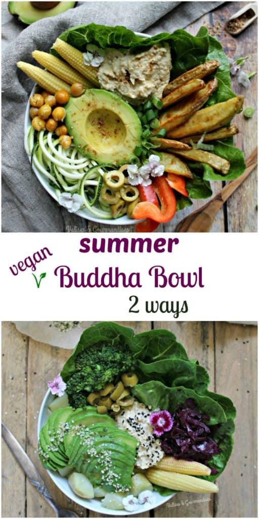 Summer Buddha Bowl, 2 ways - Valises & Gourmandises