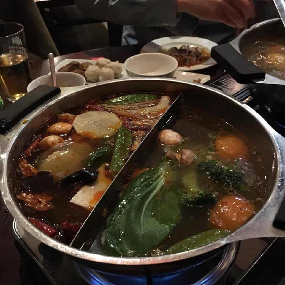 Vegan hot pot in Stockholm