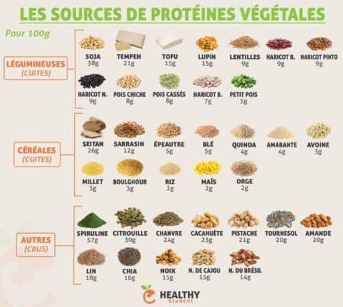 Sources de protéines végétales pour une santé optimale