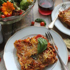 Une lasagne bolognaise végane qui rappelle la version traditionnelle! Valises & Gourmandises