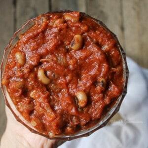Haricots à l'anglaise véganes prêts en 15 minutes! (Vegan baked beans :)