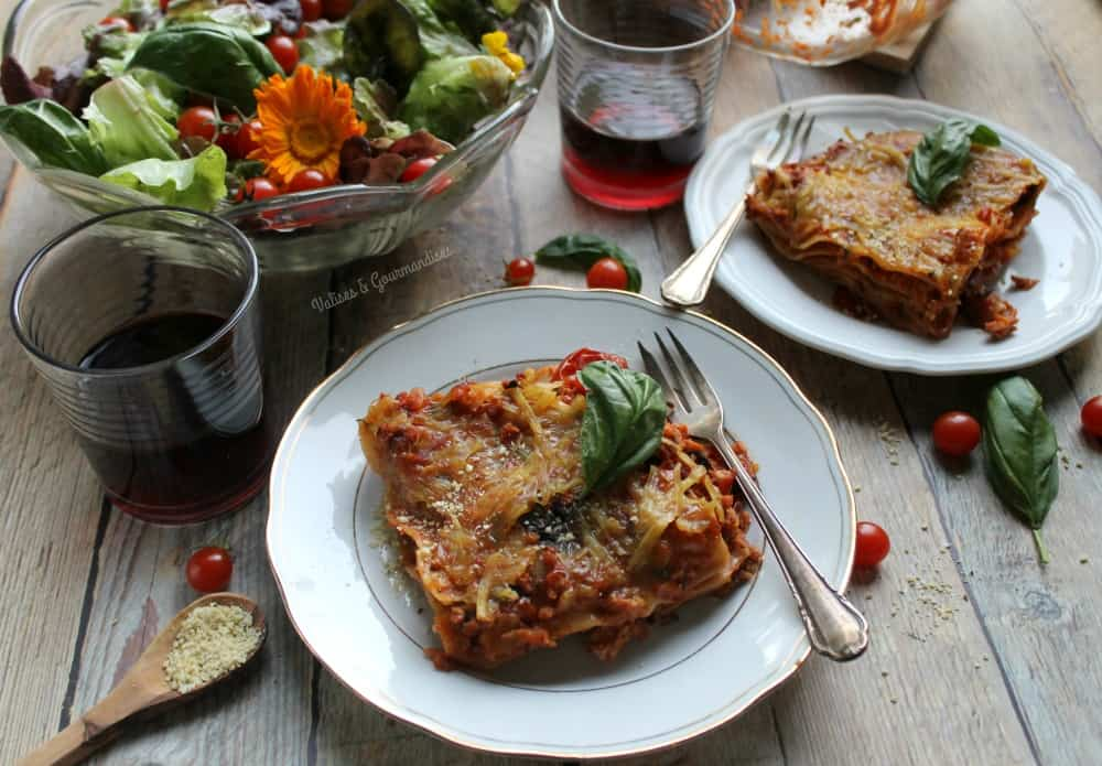 This vegan lasagna made with TSP is so close to the traditional recipe!