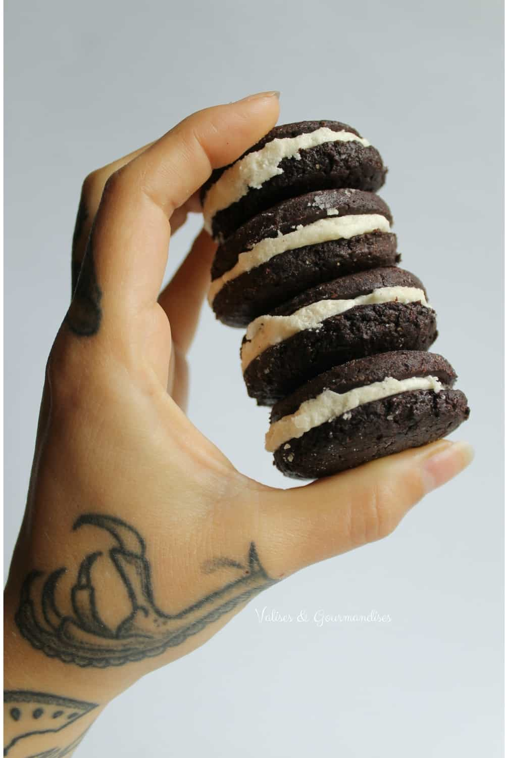 Delicious homemade vegan oreos, Valises & Gourmandises