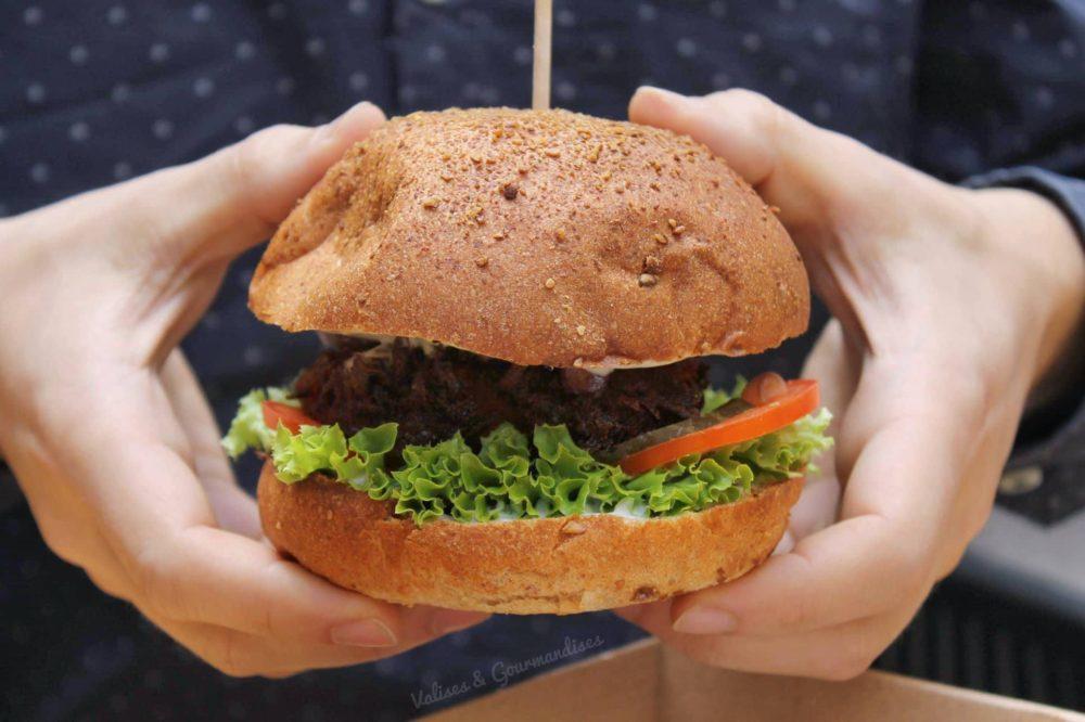 Lovely vegan burger in Budapest