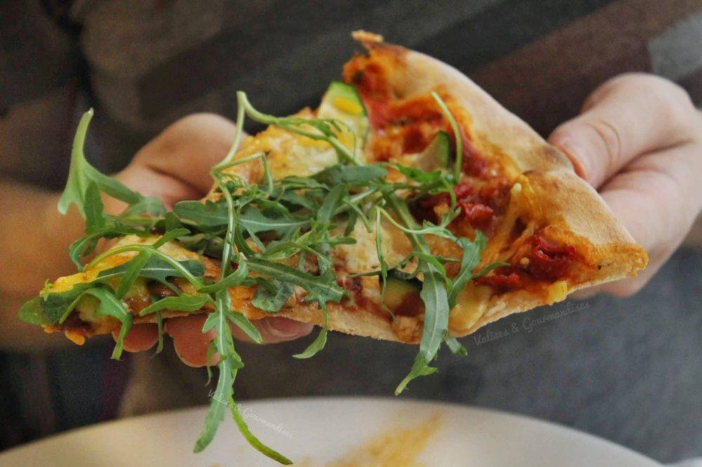 Vegan pizza in Budapest