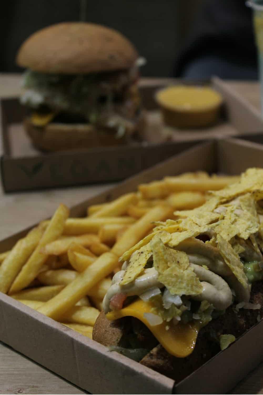 Delicious vegan hot-dog in Budapest
