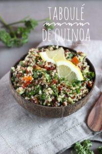 Comment faire du taboulé de quinoa, vegan & sans gluten
