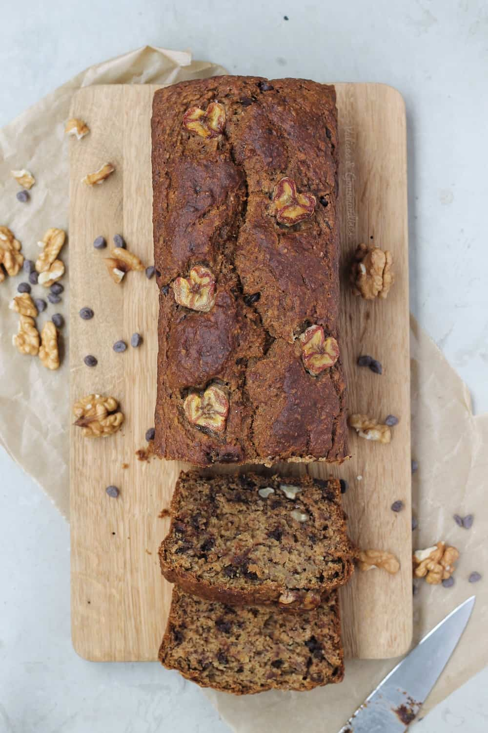 vegan whole-wheat banana bread