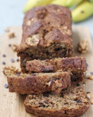 Vegan banana bread, whole-wheat & one bowl - Valises & Gourmandises