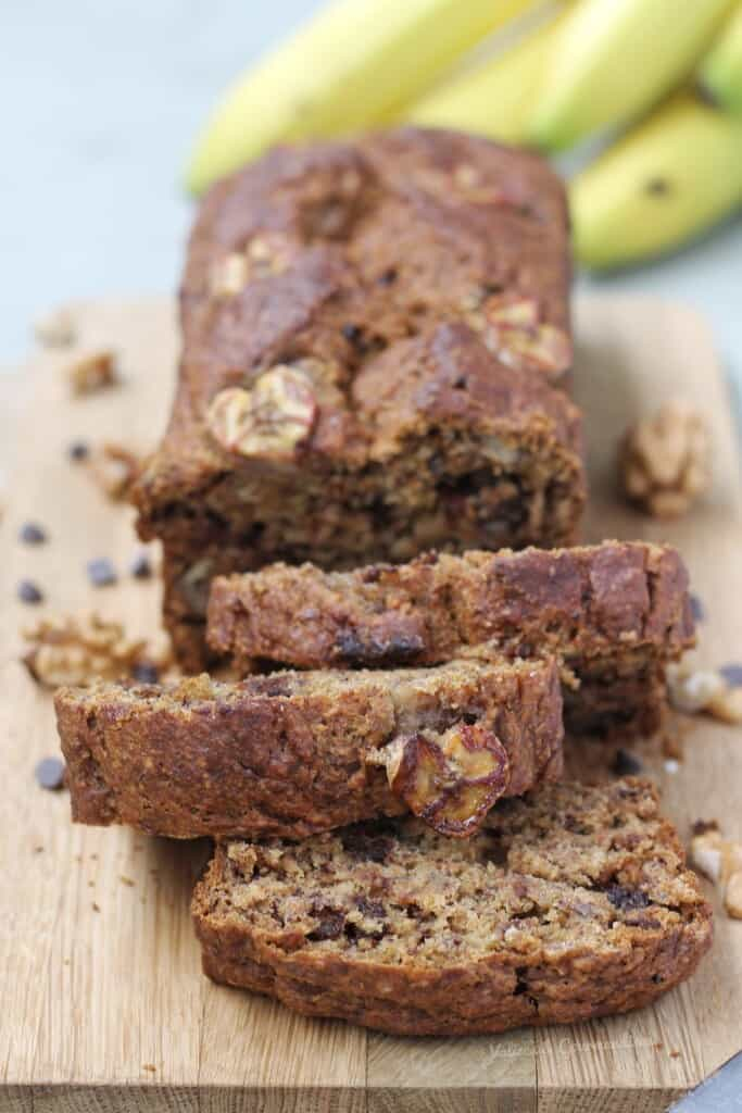 Vegan banana bread, whole-wheat & one bowl - Valises & Gourmandises