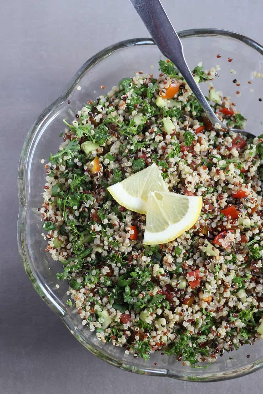 How to make quinoa tabouleh