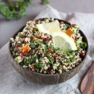 Taboulé de quinoa, végane et sans gluten