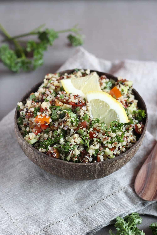 Quinoa tabouleh, vegan & gf