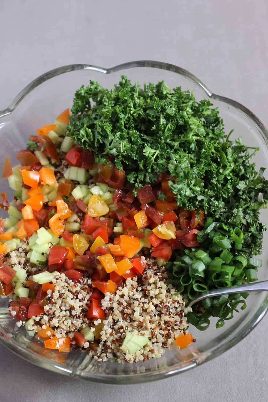 Comment faire du taboulé de quinoa