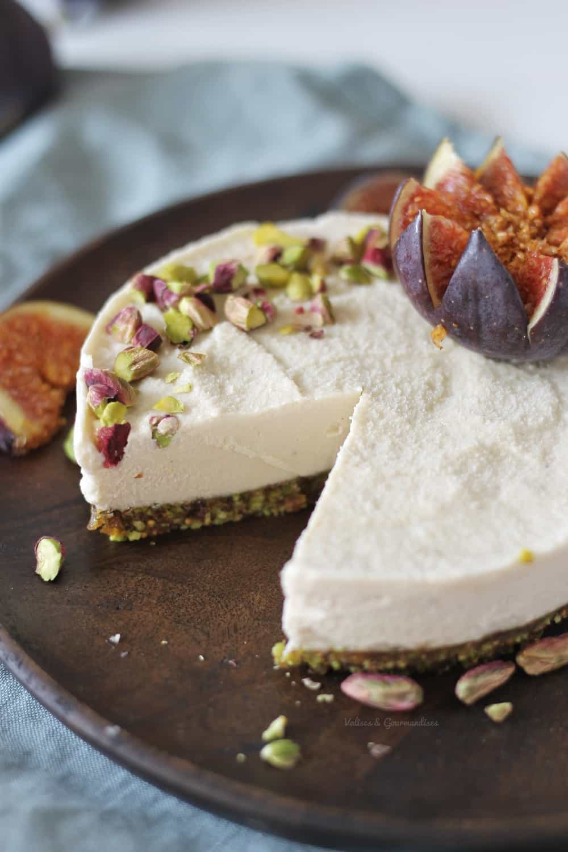 cheesecake vegan fermenté - Valises & Gourmandises