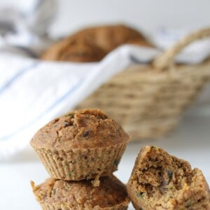 vegan zucchini & carrot muffins - gluten free, low in fat and sugar