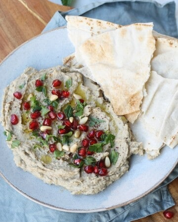 Vegan baba ghanoush with white beans - Valises & Gourmandises
