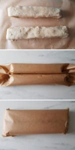 séparer la pâte des Vanillekipferl
