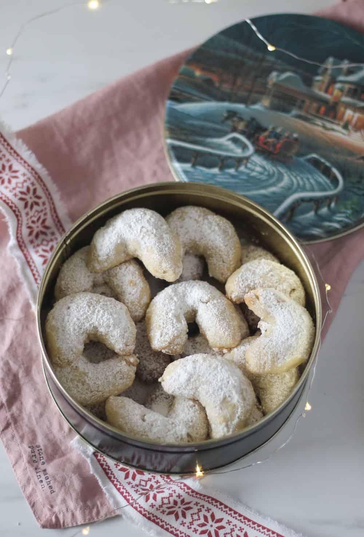 Vanillekipferl véganes - Croissants à la vanille allemands