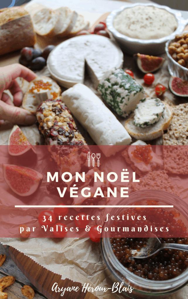 plateau de fromage en page couverture eBook Mon Noël végane